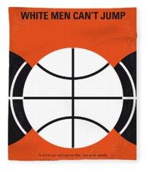 No436 My White Men Cant Jump Minimal Movie Poster Fleece Blanket