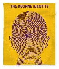 No439 My The Bourne Identity Minimal Movie Poster Fleece Blanket