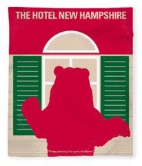 New Hampshire Digital Art Fleece Blankets