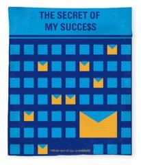 No464 My The Secret Succes Minimal Movie Poster Fleece Blanket