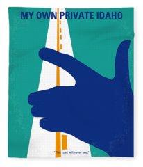 No472 My Own Private Idaho Minimal Movie Poster Fleece Blanket