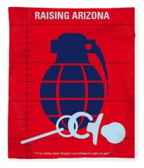 No477 My Raising Arizona Minimal Movie Poster Fleece Blanket