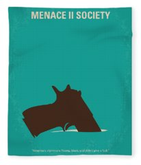 No484 My Menace II Society Minimal Movie Poster Fleece Blanket