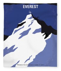 No492 My Everest Minimal Movie Poster Fleece Blanket