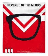 No504 My Revenge Of The Nerds Minimal Movie Poster Fleece Blanket