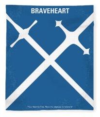 No507 My Braveheart Minimal Movie Poster Fleece Blanket