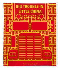 No515 My Big Trouble In Little China Minimal Movie Poster Fleece Blanket