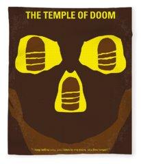 No517 My The Temple Of Doom Minimal Movie Poster Fleece Blanket
