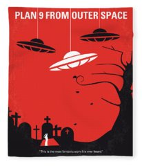 No518 My Plan 9 From Outer Space Minimal Movie Poster Fleece Blanket