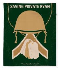 No520 My Saving Private Ryan Minimal Movie Poster Fleece Blanket