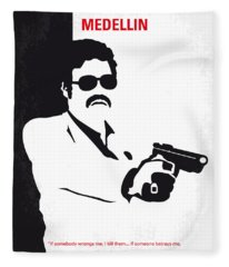 No526 My Medellin Minimal Movie Poster Fleece Blanket