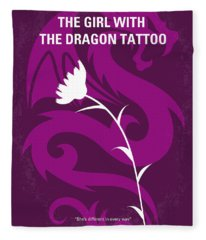 No528 My The Girl With The Dragon Tattoo Minimal Movie Poster Fleece Blanket
