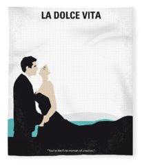 No529 My La Dolce Vita Minimal Movie Poster Fleece Blanket