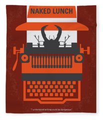 No534 My Naked Lunch Minimal Movie Poster Fleece Blanket