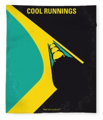 No538 My Cool Runnings Minimal Movie Poster Fleece Blanket