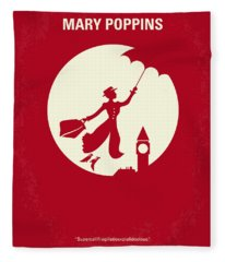 No539 My Mary Poppins Minimal Movie Poster Fleece Blanket