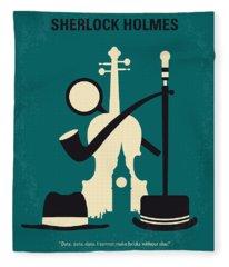 No555 My Sherlock Holmes Minimal Movie Poster Fleece Blanket