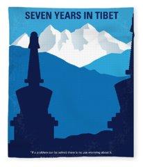 No559 My Seven Years In Tibet Minimal Movie Poster Fleece Blanket
