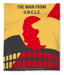 No572 My Man From Uncle Minimal Movie Poster Fleece Blanket