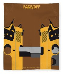 No576 My Face Off Minimal Movie Poster Fleece Blanket