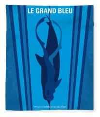 No577 My Big Blue Minimal Movie Poster Fleece Blanket