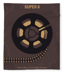 No578 My Super 8 Minimal Movie Poster Fleece Blanket