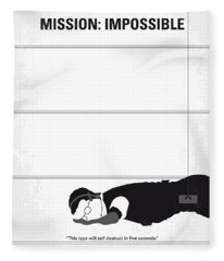 No583 My Mission Impossible Minimal Movie Poster Fleece Blanket