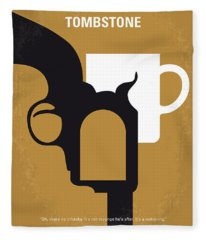 No596 My Tombstone Minimal Movie Poster Fleece Blanket