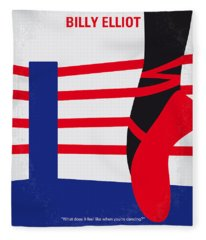 No597 My Billy Elliot Minimal Movie Poster Fleece Blanket
