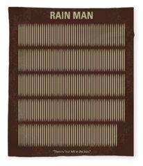 No602 My Rain Man Minimal Movie Poster Fleece Blanket