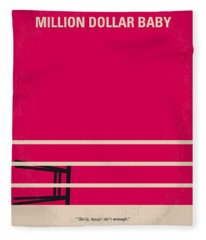 No613 My Million Dollar Baby Minimal Movie Poster Fleece Blanket