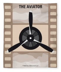 No618 My The Aviator Minimal Movie Poster Fleece Blanket