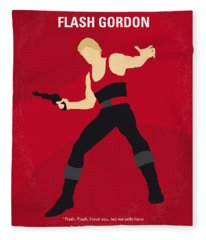 No632 My Flash Gordon Minimal Movie Poster Fleece Blanket