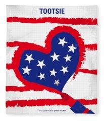 No646 My Tootsie Minimal Movie Poster Fleece Blanket