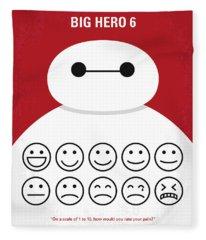 No649 My Big Hero 6 Minimal Movie Poster Fleece Blanket