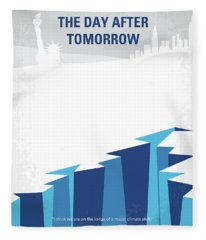 No651 My The Day After Tomorrow Minimal Movie Poster Fleece Blanket