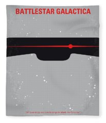 No663 My Battlestar Galactica Minimal Movie Poster Fleece Blanket