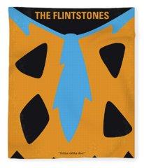 No669 My The Flintstones Minimal Movie Poster Fleece Blanket