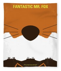 No673 My Fantastic Mr Fox Minimal Movie Poster Fleece Blanket