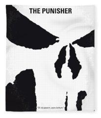 No676 My The Punisher Minimal Movie Poster Fleece Blanket