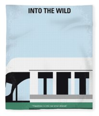 No677 My Into The Wild Minimal Movie Poster Fleece Blanket