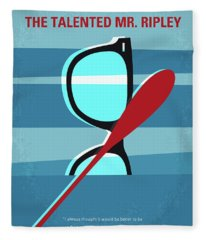 No694 My The Talented Mr Ripley Minimal Movie Poster Fleece Blanket