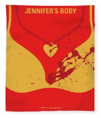No698 My Jennifers Body Minimal Movie Poster Fleece Blanket
