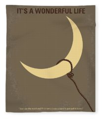No700 My Its A Wonderful Life Minimal Movie Poster Fleece Blanket