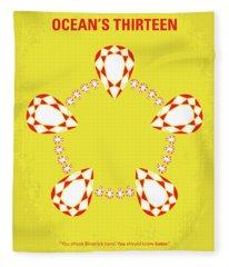 No706 My Oceans 13 Minimal Movie Poster Fleece Blanket