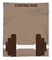 No707 My Pumping Iron Minimal Movie Poster Fleece Blanket