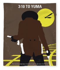 No726 My 310 To Yuma Minimal Movie Poster Fleece Blanket