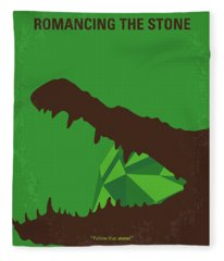 No732 My Romancing The Stone Minimal Movie Poster Fleece Blanket