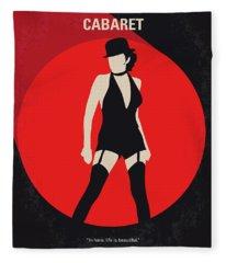 No742 My Cabaret Minimal Movie Poster Fleece Blanket