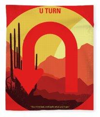 No745 My Uturn Minimal Movie Poster Fleece Blanket